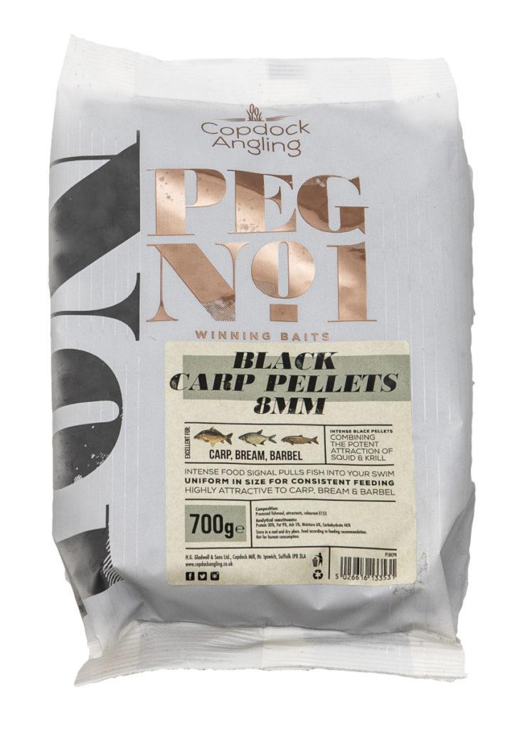Copdock Angling Black Carp Pellets - Squid & Krill Infused Fishing Pellets